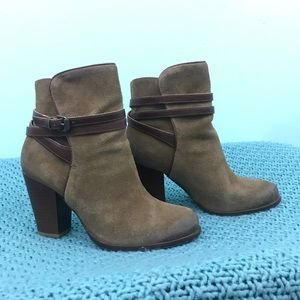 All Saints Victoria Heel Boot In Tobacco